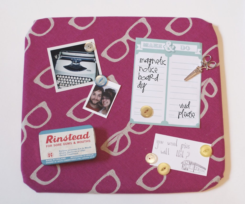 diy how to make a magnetic notice board with button magnets for