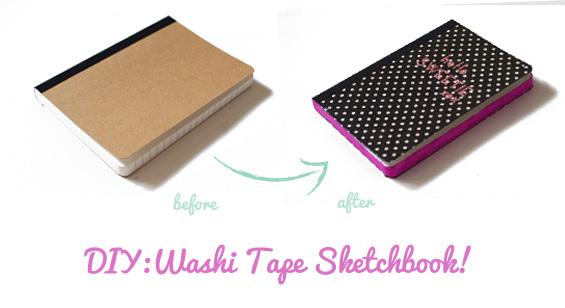 DIYHow To Make A Stylish Washi Tape Notebook Miss V Viola