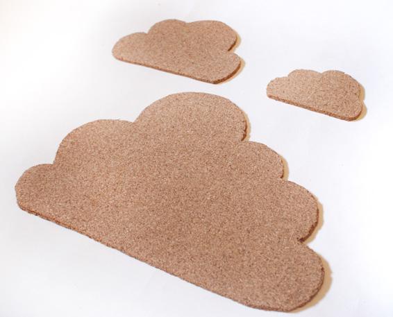 Diy how to make a cork cloud notice board miss v viola for Simple cork