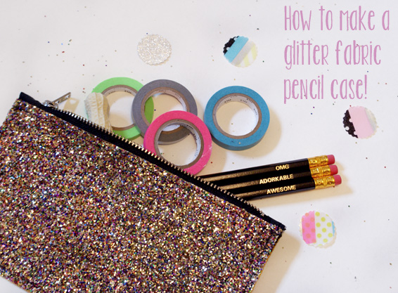 DIY: How To Make A Glitter Fabric Pencil Case | Miss V Viola