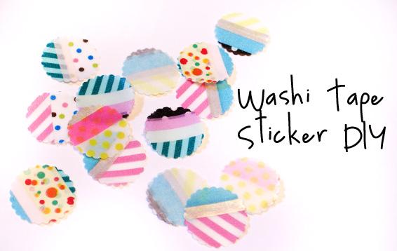 Diy How To Make Washi Tape Stickers Miss V Viola