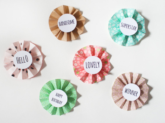 Diy How To Make Paper Rosettes Free Print Out Miss V Viola
