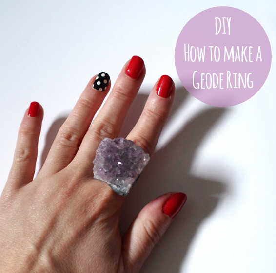diy how to make a geode ring miss v viola