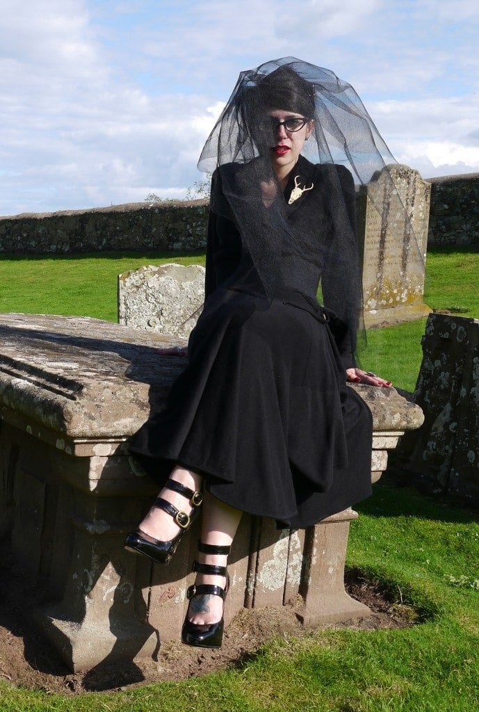 halloween fashion shoot witch inspiration vivienne westwood dress trend stylish outfit ideas