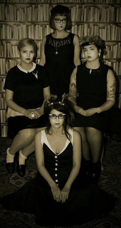 cool fashion shoot girl gang halloween portrait