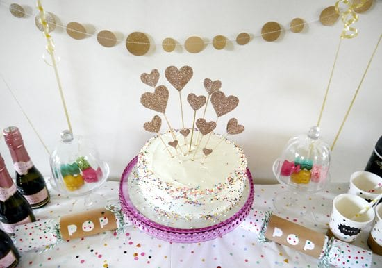 Cute Cake Topper Handmade Birthday Ideas Sprinkles And Glitter Theme Party Rainbow Gold