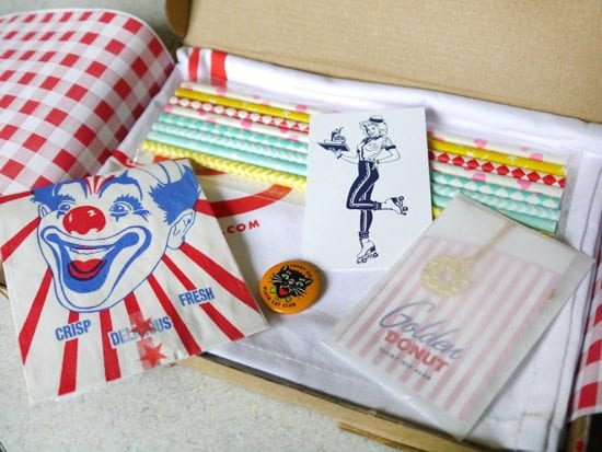 lucky dip club 1950s diner themed gift box surprise retro subscription service review cute christmas idea for girls and ladies