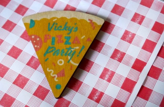 pizza party magnet fast food gift lucky dip club subscription vintage style retro subscription box uk quirky inspiration