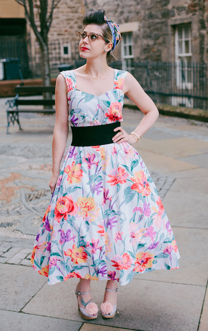 retro style vintage model scotland blogger edinburgh mint and chillies photography