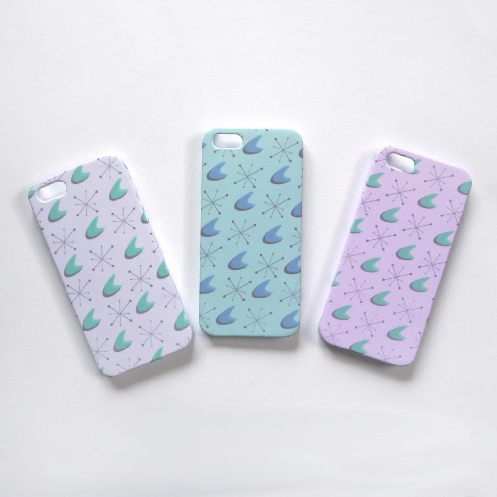 50s pattern iphone cases