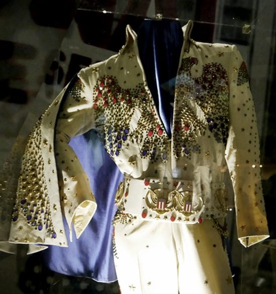 vintage elvis jumpsuit costume fashion style blog london exhibition review of graceland memerobilia