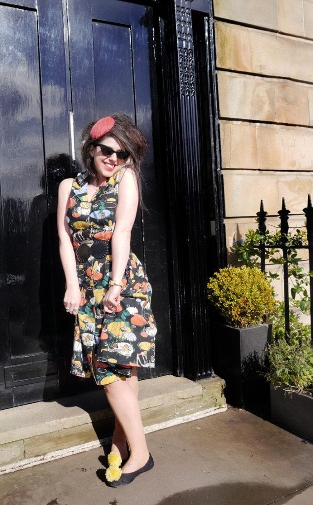 cute retro style uk fashion lifestyle blogger 50s theme summer outfit