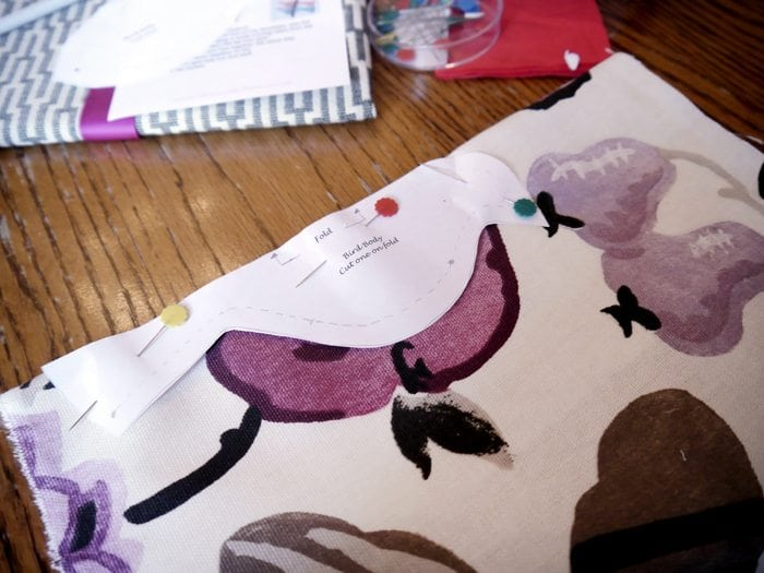 diy fabric bird project