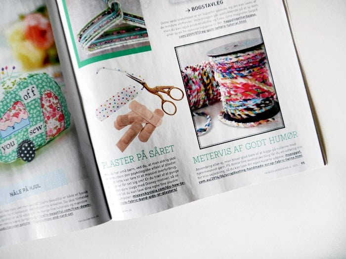fabric plaster diy fun band aid published in hendes verden magazine