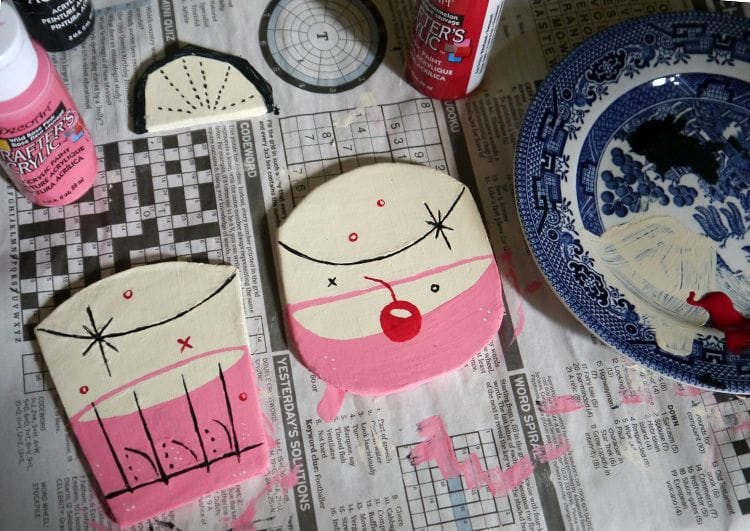 retro inspired handmade gifts for home 50s cocktail coasters