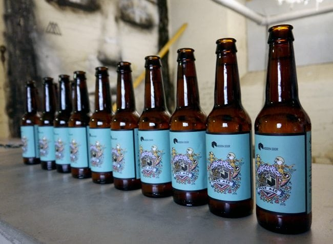 hidden door barney pale ale edinburgh micro brew beer
