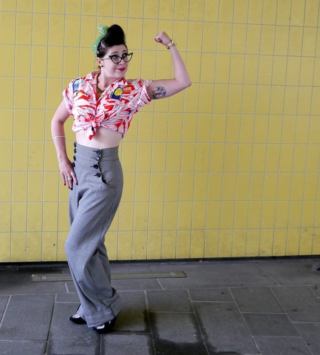 1950s style blogger vintage hawaiian outfit retro style quirky blogger uk scotland