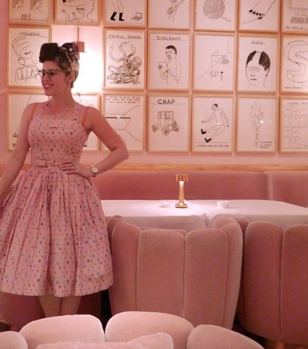 beautiful pink interior 1950s style room uk london england retro fashion pin up girl
