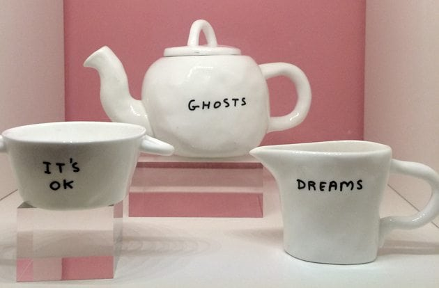 david shrigley ghosts teapot sketch london