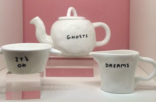 david shrigley ghosts teapot sketch london