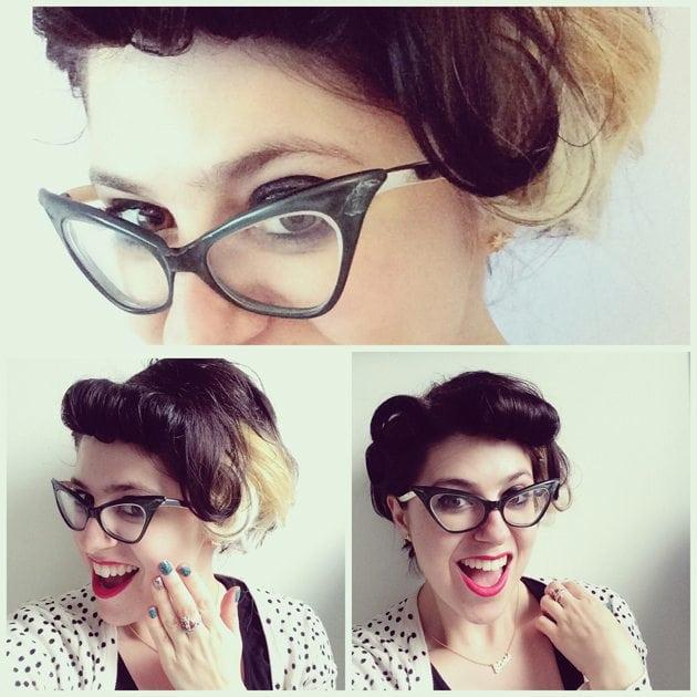 pin up hair inspiration cute retro hair do vintage style short hair roll fringe uk salon scotland