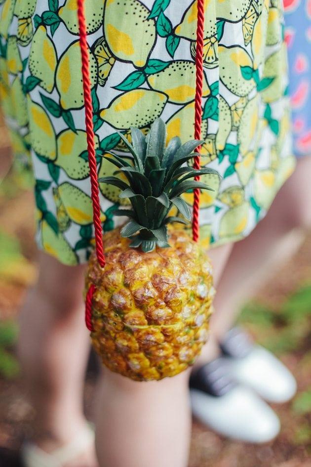 vintage pineapple handbag