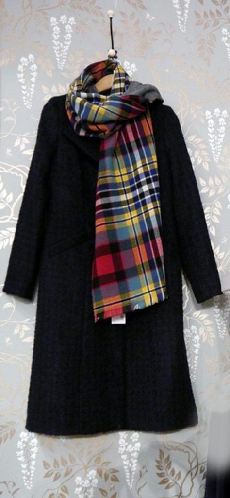 brora tartan scarf scottish cashmere made in the uk