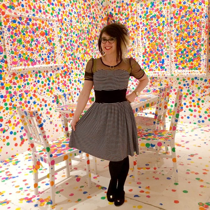 Yayoi kusama polka dot installation fashion blog post louisiana museum of modern art copenhagen