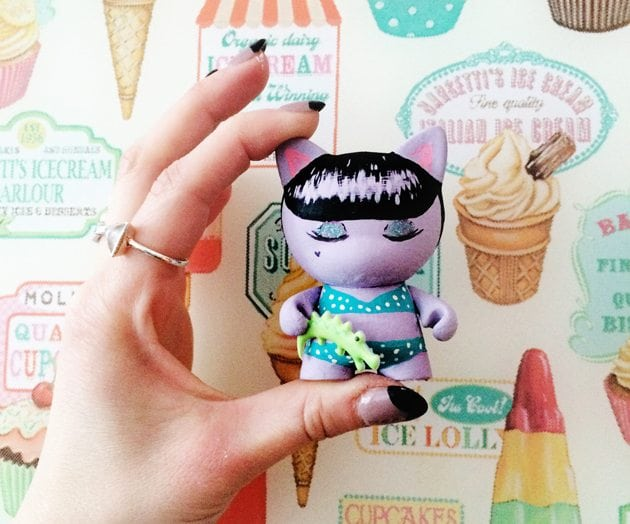 betty paige inspired munny trunky vinyl toy