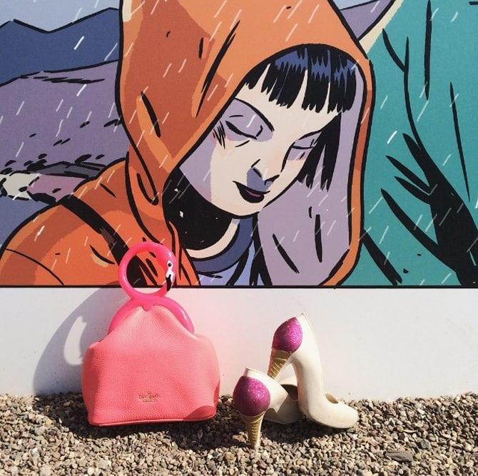kate spade handbag karl lagerfeld shoes ice cream heels flamingo bag