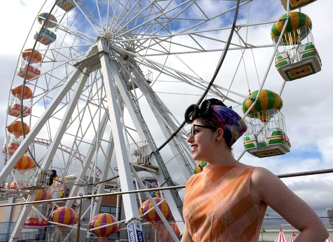 vintage funfair photo blog post aberdeen scotland scottish bloggers retro style outfit of the day