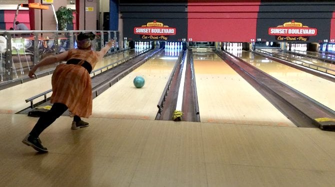 vintage theme day out bowling